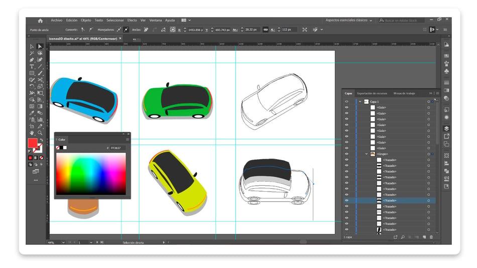 Diseño íconos 3D