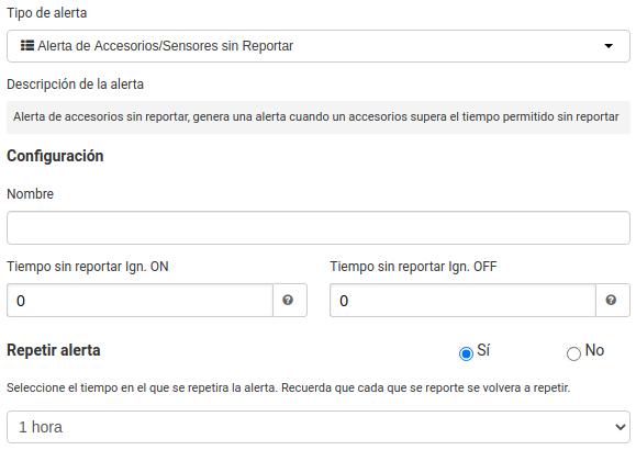 Alerta Sensores sin Reportar